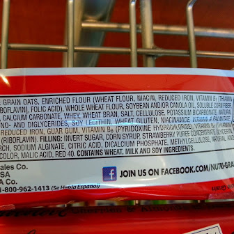Nutri Grain Ingredient List
