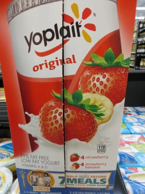 Yoplait Strawberry Yogurt that contains carmine from ground up beetles