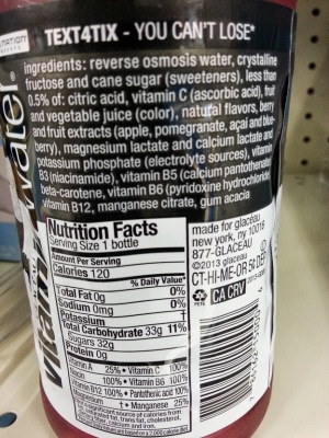 Vitamanwater nutrition