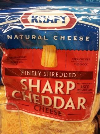 Kraft sharp cheddar cheese natural