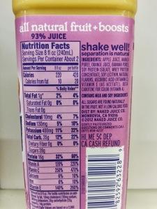 naked juice ingredients