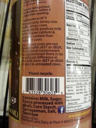 promise land milk ingredient
